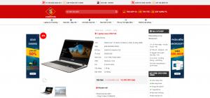 website mua bán laptop, máy tính cho cửa hàng, shop