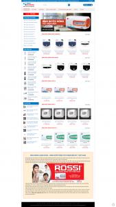 mẫu website bán bình nước nóng lạnh