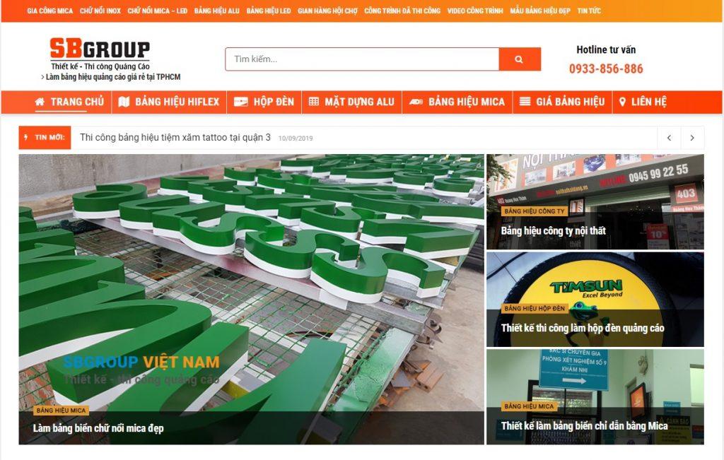 seo web trọn gói tại bình dương site bảng hiệu quảng cáo
